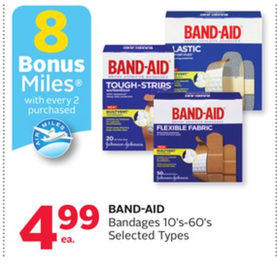 Band-aid Bandages - 8 Bonus Air Miles Reward Miles