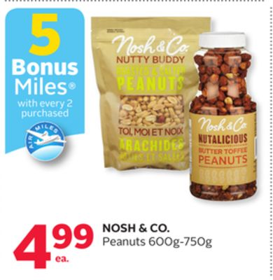 Nosh & Co. Peanuts - 5 Bonus Air Miles Reward Miles