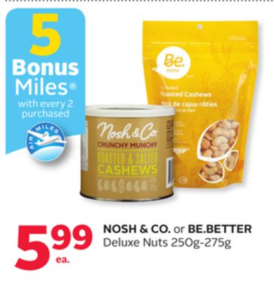 Nosh & Co. or Be.better Deluxe Nuts - 5 Bonus Air Miles Reward Miles