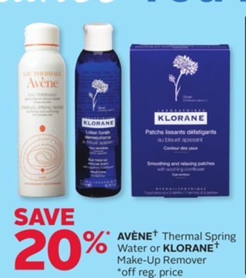 Avène Thermal Spring Water or Klorane Make-up Remover