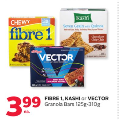 Fibre 1 - Kashi or Vector Granola Bars