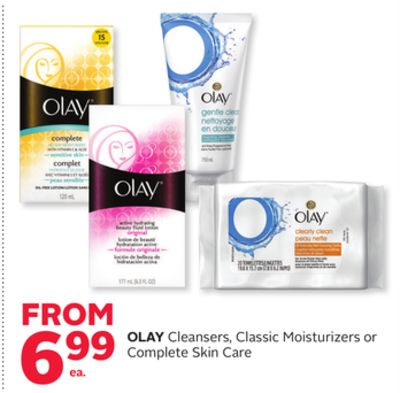 Olay Cleansers - Classic Moisturizers or Complete Skin Care