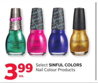 Select Sinful Colors Nail Colour Products
