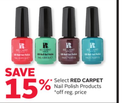 Select Red Carpet Nail Polish Products