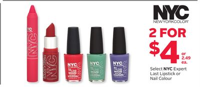 Select Nyc Expert Last Lipstick or Nail Colour