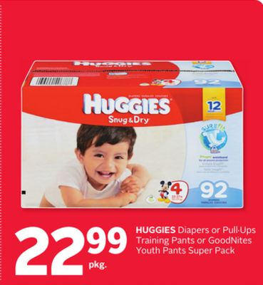 Huggies Diapers or Pullups Training Pants or Goodnites Youth Pants Super Pack