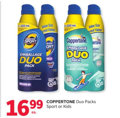 Coppertone Duo Packs