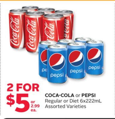 Coca-cola or Pepsi Regular or Diet