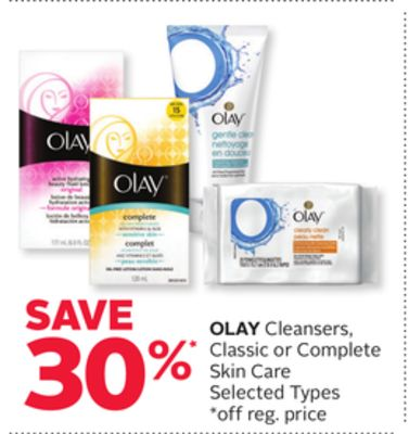 Olay Cleansers - Classic or Complete Skin Care
