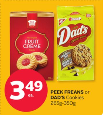 Peek Freans or Dad's Cookies