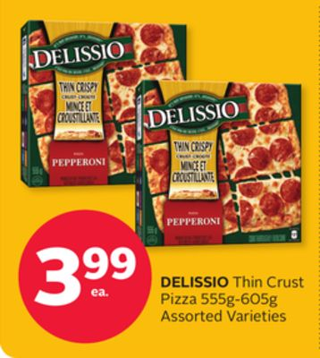 Delissio Thin Crust Pizza