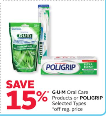 G·u·m Oral Care Products or Poligrip