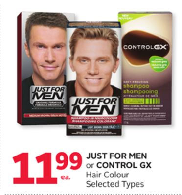 Just For Men or Control Gx Hair Colour