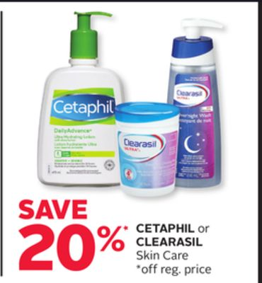 Cetaphil or Clearasil Skin Care