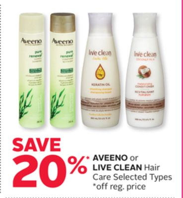 Aveeno or Live Clean Hair Care