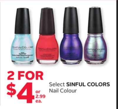 Select Sinful Colors Nail Colour