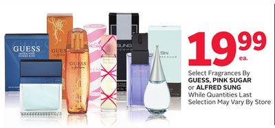 Select Fragrances By Guess - Pink Sugar or Alfred Sung
