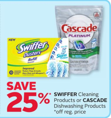 Swiffer Cleaning Products or Cascade Dishwashing Products