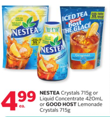 Nestea Crystals 715g or Liquid Concentrate 420ml or Good Host Lemonade Crystals 715g