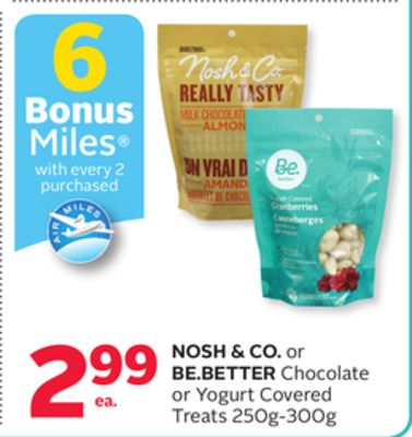 Nosh & Co. or Be.better Chocolate or Yogurt Covered Treats - 6 Bonus Air Miles Reward Miles