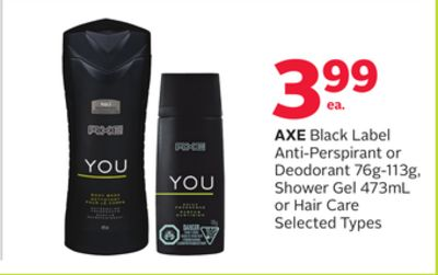 Axe Black Label Anti-perspirant or Deodorant 76g-113g - Shower Gel 473ml or Hair Care