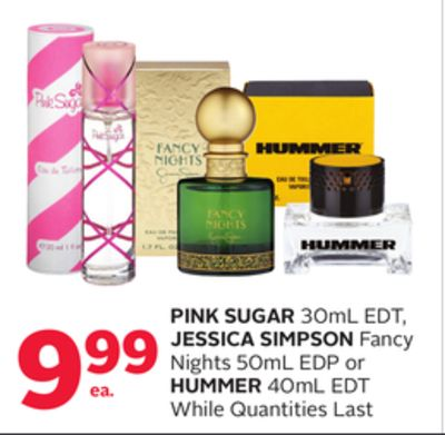 Pink Sugar 30ml Edt - Jessica Simpson Fancy Nights 50ml Edp Or Hummer 40ml Edt