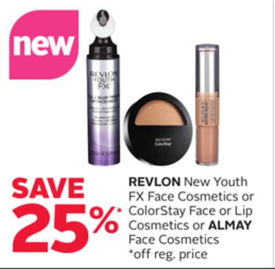 Revlon New Youth Fx Face Cosmetics or Colorstay Face or Lip Cosmetics or Almay Face Cosmetics
