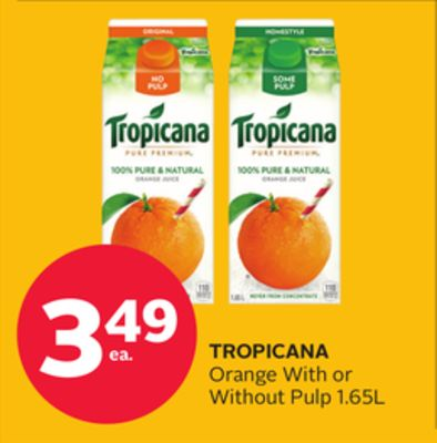 Tropicana Orange With Or Without Pulp