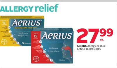Aerius Allergy or Dual Action Tablets 30's