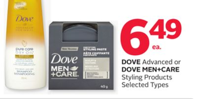 Dove Advanced Or Dove Men+care Styling Products
