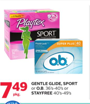 Gentle Glide - Sport Or O.b. 36's-40's Or Stayfree 40's-49's