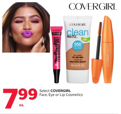Select Covergirl Face - Eye or Lip Cosmetics