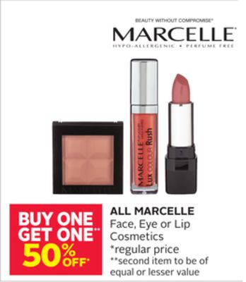 All Marcelle Face - Eye or Lip Cosmetics