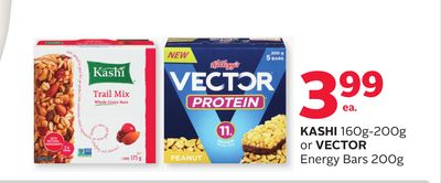 Kashi 160g-200g or Vector Energy Bars 200g