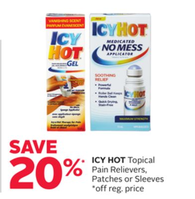 Icy Hot Topical Pain Relievers - Patches Or Sleeves