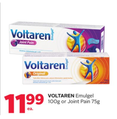 Voltaren Emulgel 100g Or Joint Pain 75g