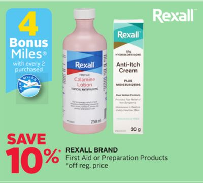 Rexall Brand First Aid or Preparation Products - 4 Bonus Air Miles Reward Miles