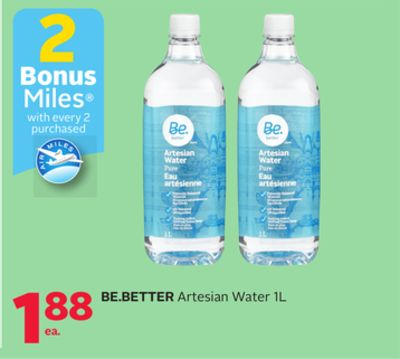Be.better Artesian Water 1l - 2 Bonus Air Miles Reward Miles