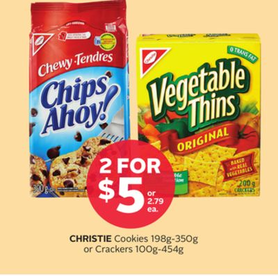 Christie Cookies 198g-350g Or Crackers 100g-454g