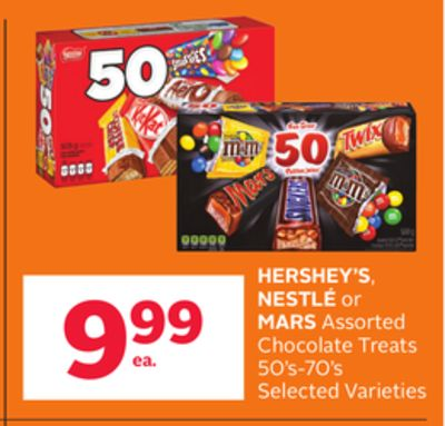 Hershey''s - Nestle or Mars Assorted Chocolate Treats 50's-70's