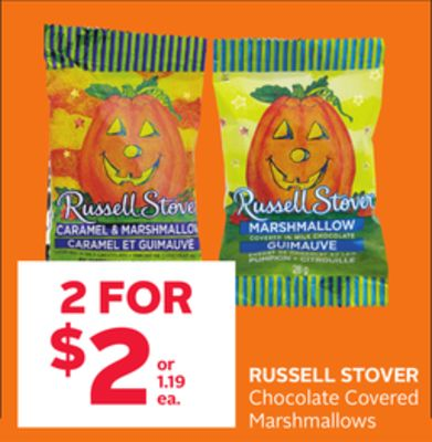 Russell Stover Chocolate Covered Marshmallows