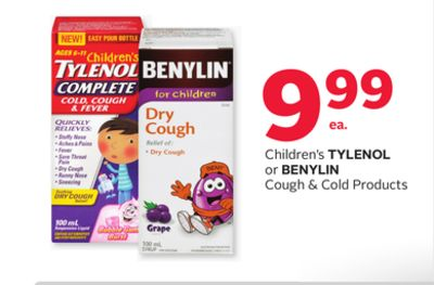 Children's Tylenol or Benylin Cough & Cold Products