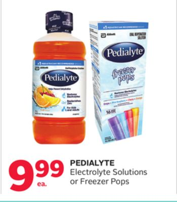 Pedialyte Electrolyte Solutions or Freezer Pops