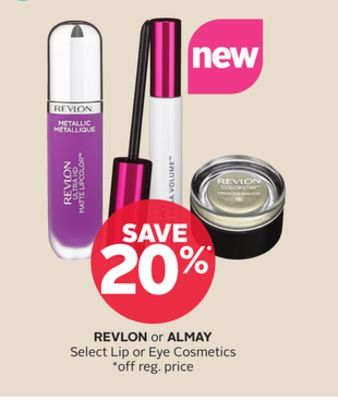 Revlon or Almay Select Lip or Eye Cosmetics