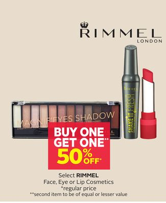 Rimmel London Select Rimmel Face - Eye or Lip Cosmetics