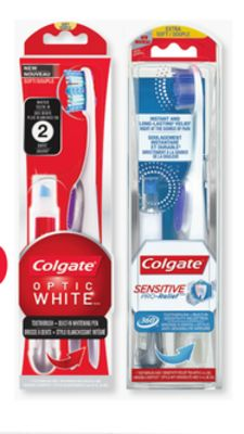 Colgate Optic White or Sensitive Pen With Built-in Toothbrush