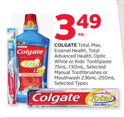 Colgate Total - Max Enamel Health - Total Advanced Health - Optic White or Kids' Toothpaste