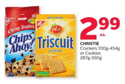 Christie Crackers 100g-454g or Cookies 287g-350g