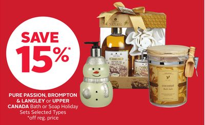 Pure Passion - Brompton & Langley or Upper Canada Bath or Soap Holiday