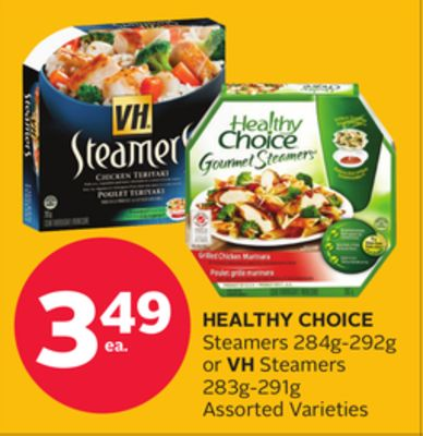 Healthy Choice Steamers 284g-292g or VH Steamers 283g-291g